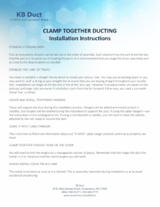 Download the Clamp Together Ducting Installation Instructions