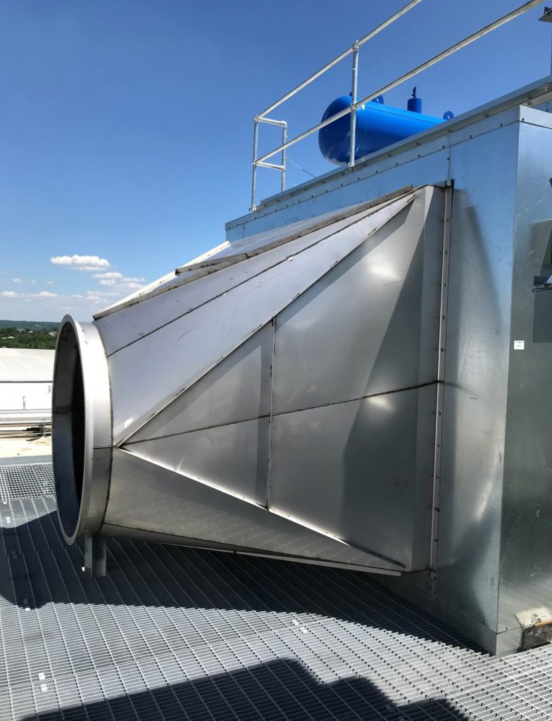 Photo of Kirk and Blum ductwork